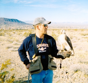 Greg - shown here in the desert with Lucidity.